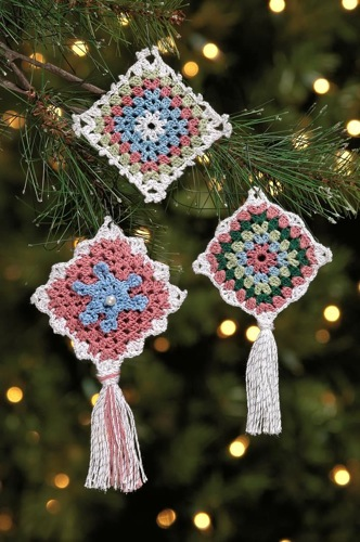 Victorian Granny Square Ornaments
