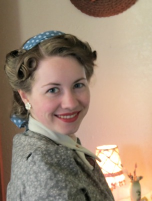 April Tutorial 1940s Hairstyle With Scarf Three Ways Verity