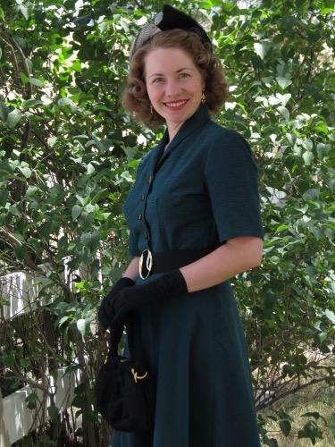 Smart Style 1950s Green And Black Dress Verity Vintage