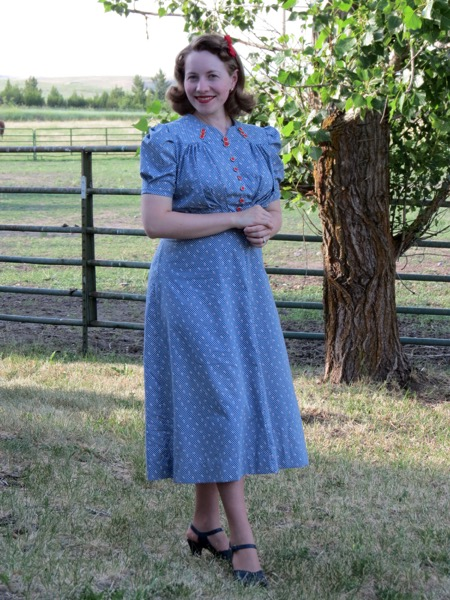 Late 1930s 4th Of July Maternity Dress Verity Vintage Studio