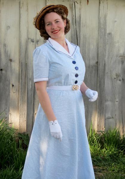 1940s Blue Sailor Dress Verity Vintage Studio