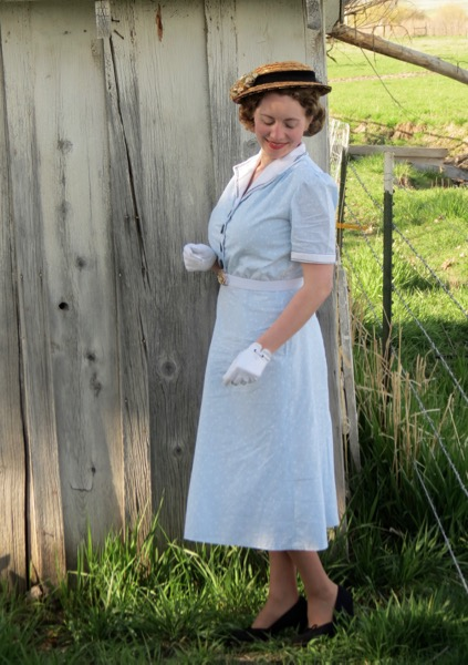 1940s Blue Sailor Dress Verity Vintage Studio