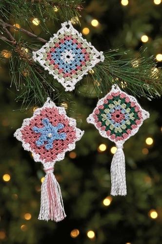 Victorian Granny Square Ornaments